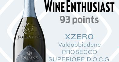 Follador Prosecco dal 1769 premiato al Wine Enthusiast 2021-2022