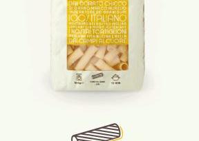 Tortiglioni con soffritto di zampone e parmigiano sauté di zucca e cipolla e tartufo bianco